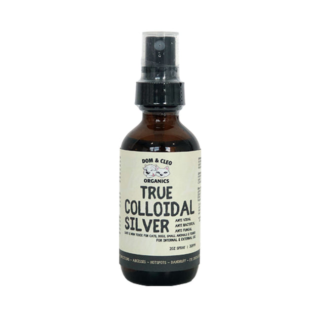 10% OFF: Dom & Cleo® Colloidal Silver Spray for Dogs & Cats 57ml (2oz)