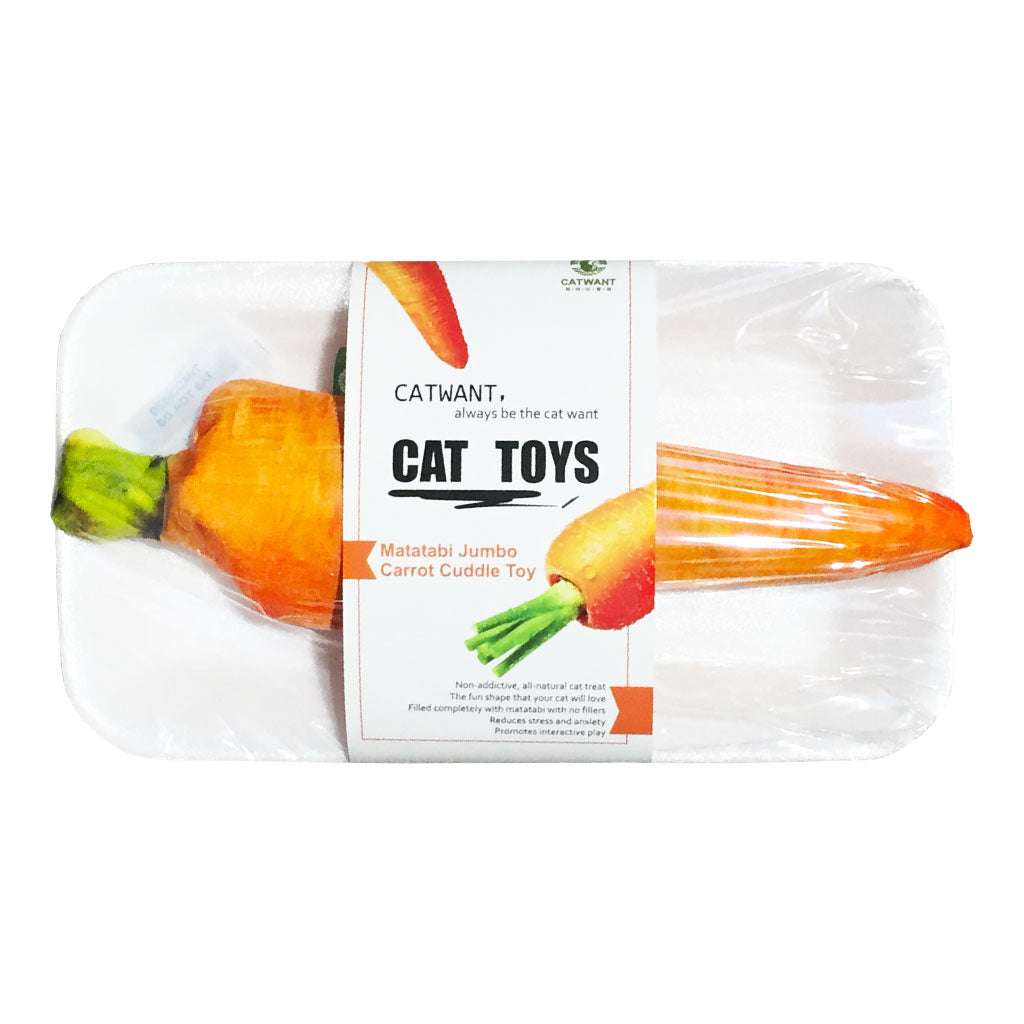 [NEW LAUNCH]: Catwant® Jumbo Cuddle Toy Cat Toy - Carrot