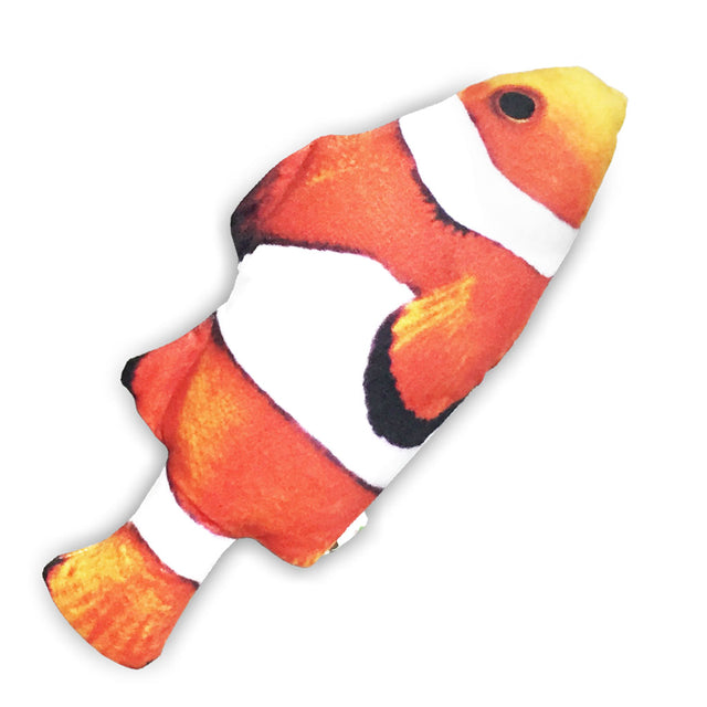 [NEW LAUNCH]: Catwant® Seafood Cuddle Fish Cat Toy - Clown Fish