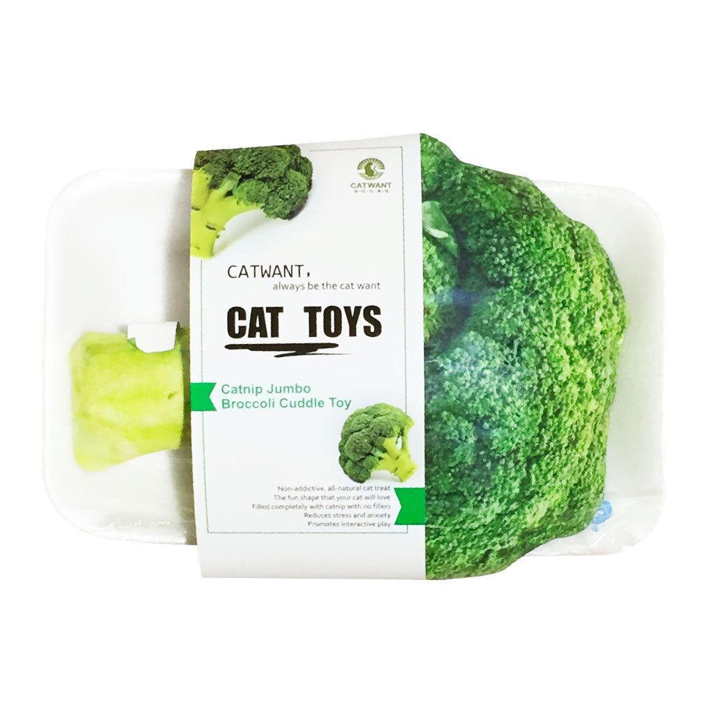 [NEW LAUNCH]: Catwant® Jumbo Cuddle Toy Cat Toy - Broccoli