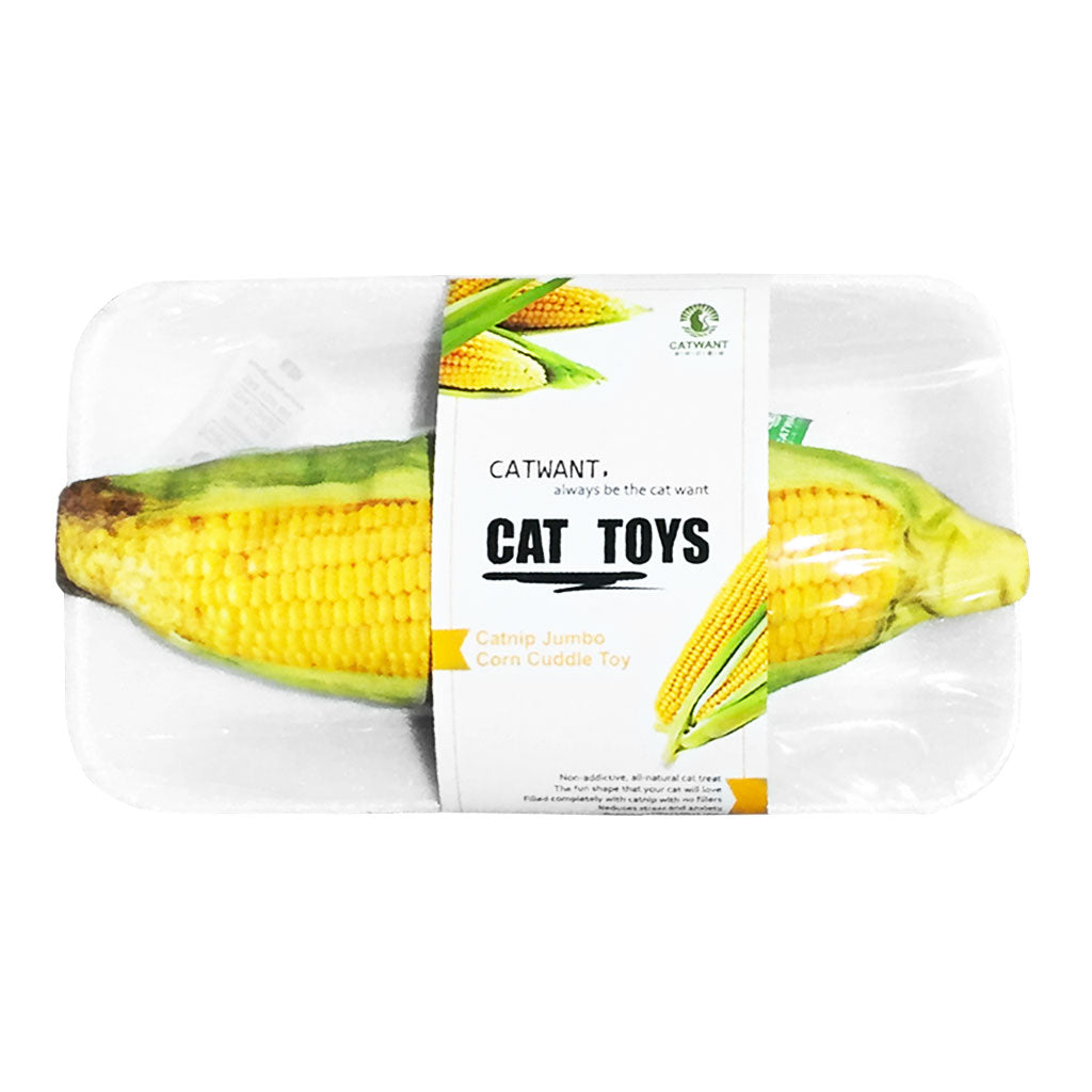 [NEW LAUNCH]: Catwant® Jumbo Cuddle Toy Cat Toy - Corn