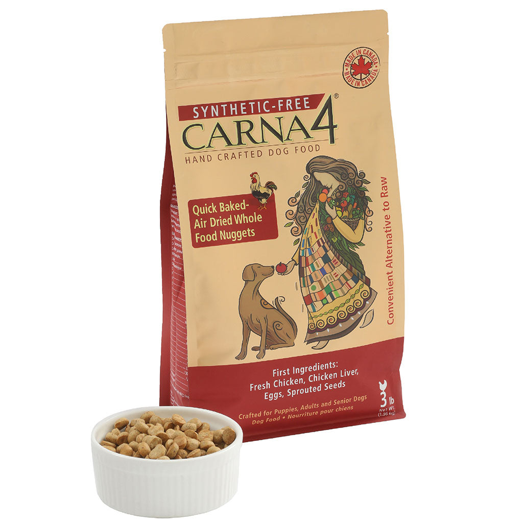 20% OFF [NEW]: Carna4® Quick Baked Air Dried Chicken Dry Dog Food (2.7kg)