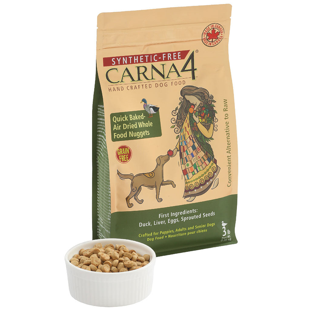 30% OFF: Carna4® Quick Baked & Air-Dried Easy-Chew Duck Dry Dog Food (1.4kg)