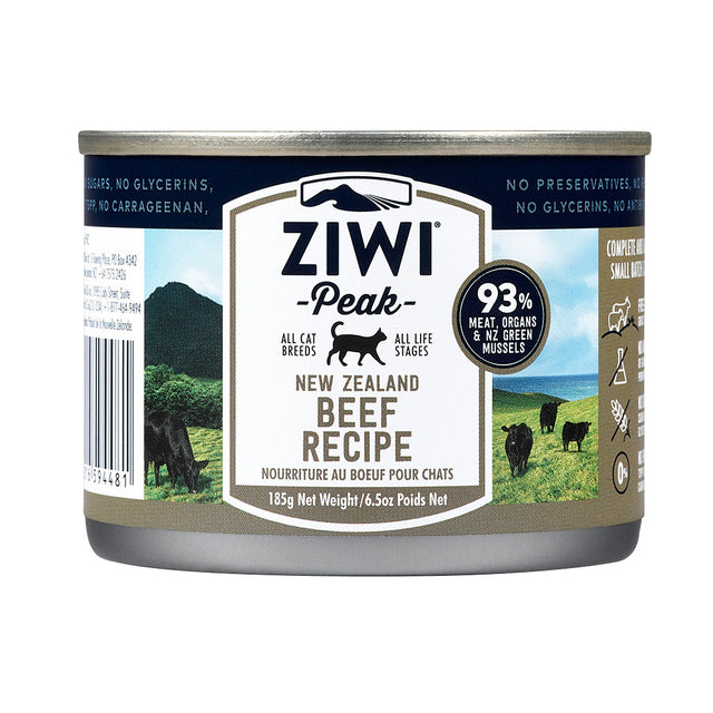 20% OFF + FREE POUCH: Ziwi Peak® Premium Free-Range Beef Canned Cat Food (185g)