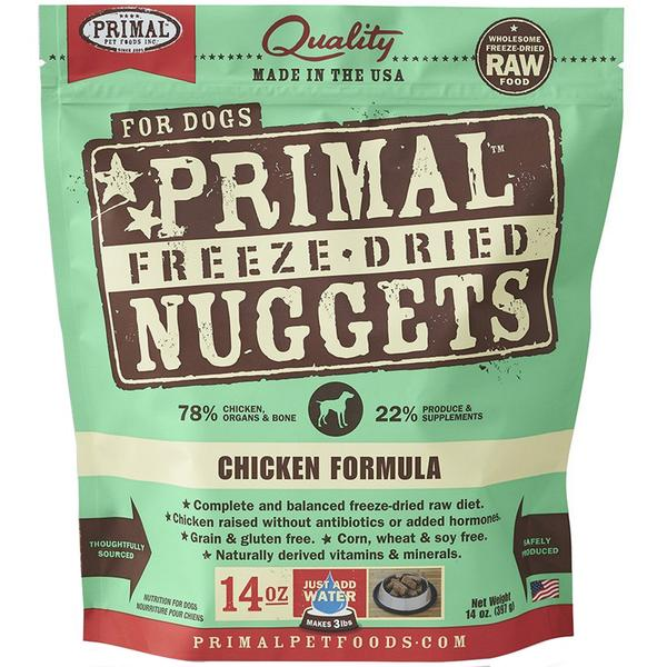 $44 ONLY [60% OFF]: Primal® Freeze-Dried Nuggets Chicken Formula Dog Food 397g (14oz)
