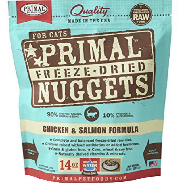 2 FOR $39.90 [60% OFF] Primal® Freeze-Dried Nuggets Chicken & Salmon Formula Cat Food (2 sizes)
