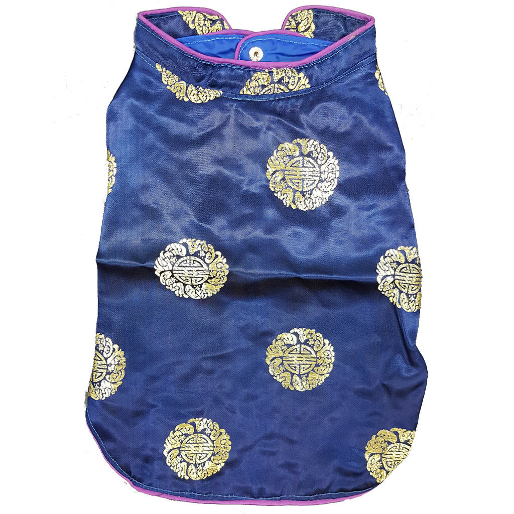 28% OFF [CNY20]: MOBY'S® Oriental Tang Jacket Navy Blue (Small & Medium Dogs)