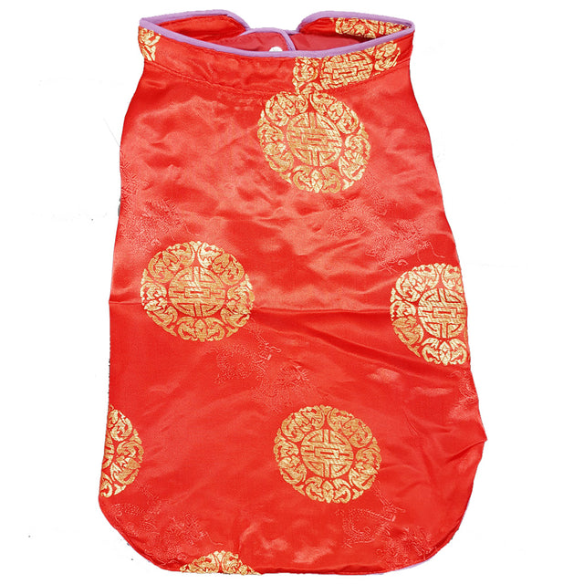 28% OFF [CNY20]: MOBY'S® Oriental Tang Jacket Red (Small & Medium Dogs)