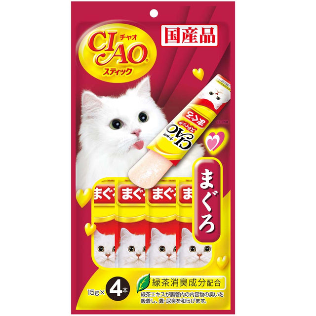Ciao® Stick Tuna Maguro in Jelly Cat Treat (4x15g)