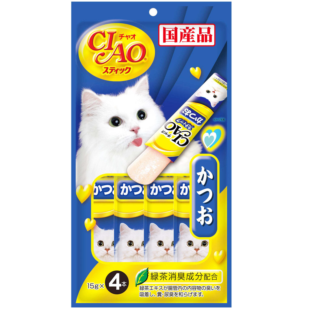 Ciao® Stick Tuna Katsuo in Jelly Cat Treat (4x15g)
