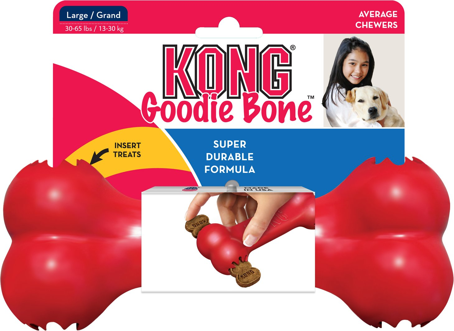 20% OFF: KONG® Classic Goodie Bone Dog Toy S–L