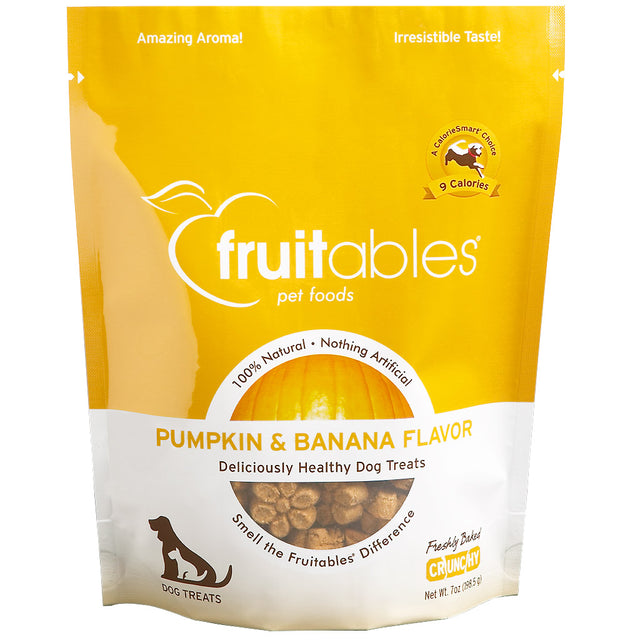 BUY 2 FREE 1 [BFCM]: Fruitables® Natural Crunchy Pumpkin & Banana Dog Treats (190g)