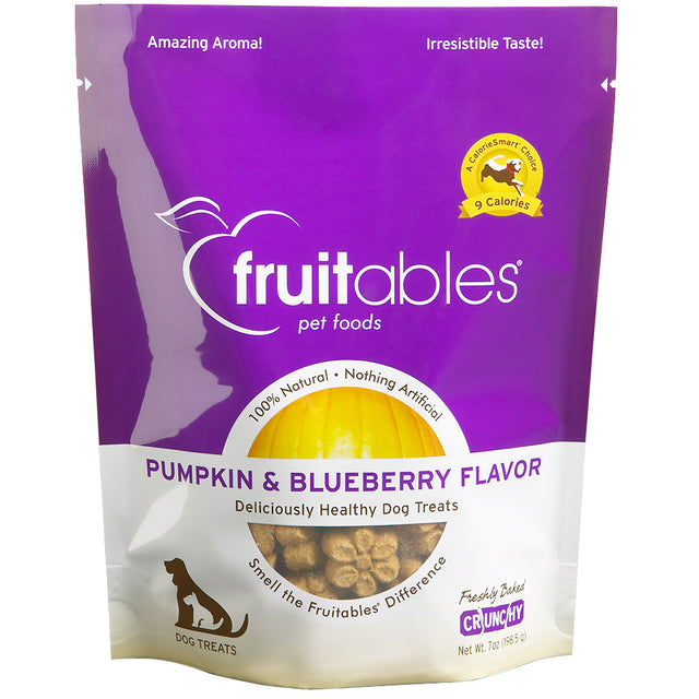 BUY 2 FREE 1 [BFCM]: Fruitables® Natural Crunchy Pumpkin & Blueberry Dog Treats (190g)