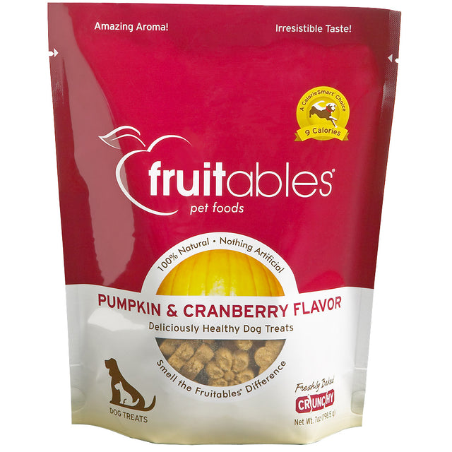 BUY 2 FREE 1 [BFCM]: Fruitables® Natural Crunchy Pumpkin & Cranberry Dog Treats (190g)