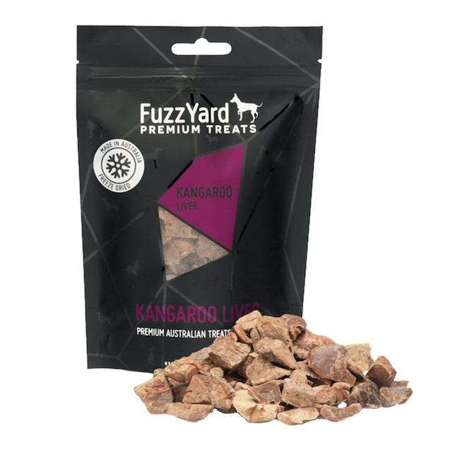 10% OFF: FuzzYard ® Premium Freeze-Dried Kangaroo Liver Dog Treats (50g)