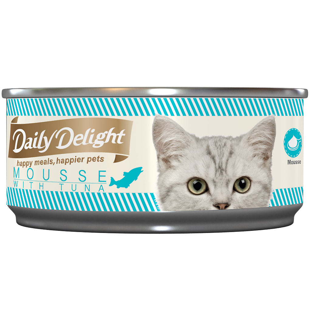 Daily Delight® Mousse with Tuna Grain-Free Canned Cat Food (24pcs)