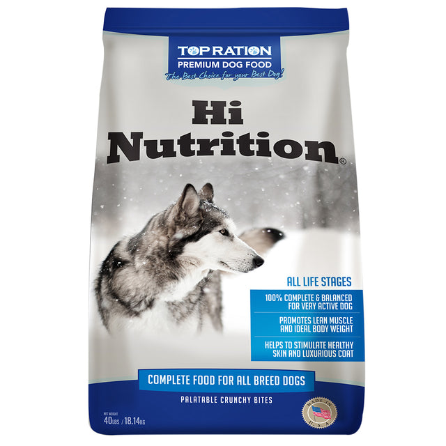 20% OFF [NEW]: Top Ration® Hi Nutrition Formula Dry Dog Food (2 sizes)