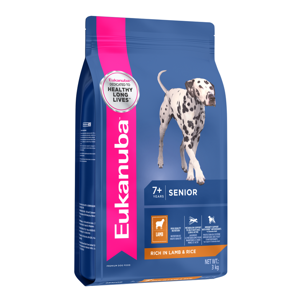 25% OFF [NEW]: EUKANUBA® Senior All Breeds Lamb & Rice Dry Dog Food (2 sizes)