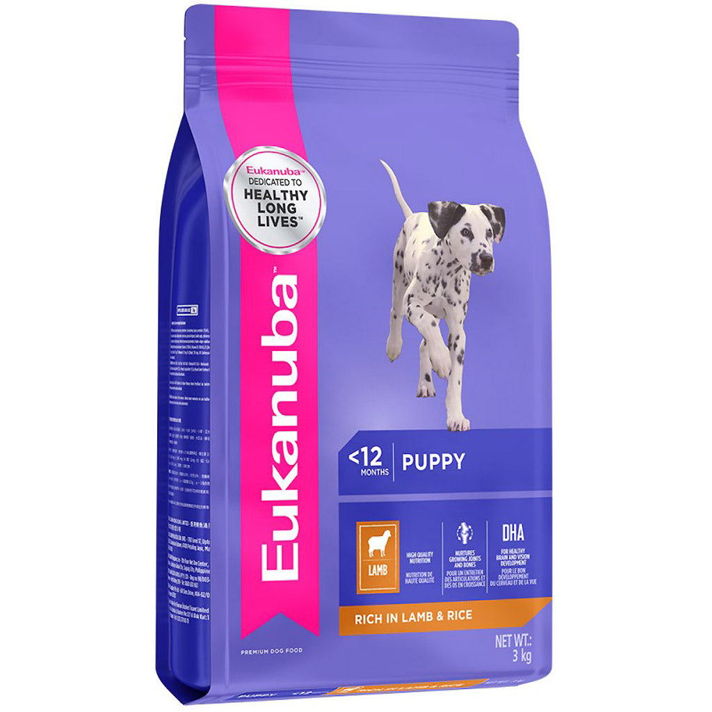 25% OFF + FREE TREATS: EUKANUBA® Puppy Lamb & Rice Dry Dog Food (3 sizes)