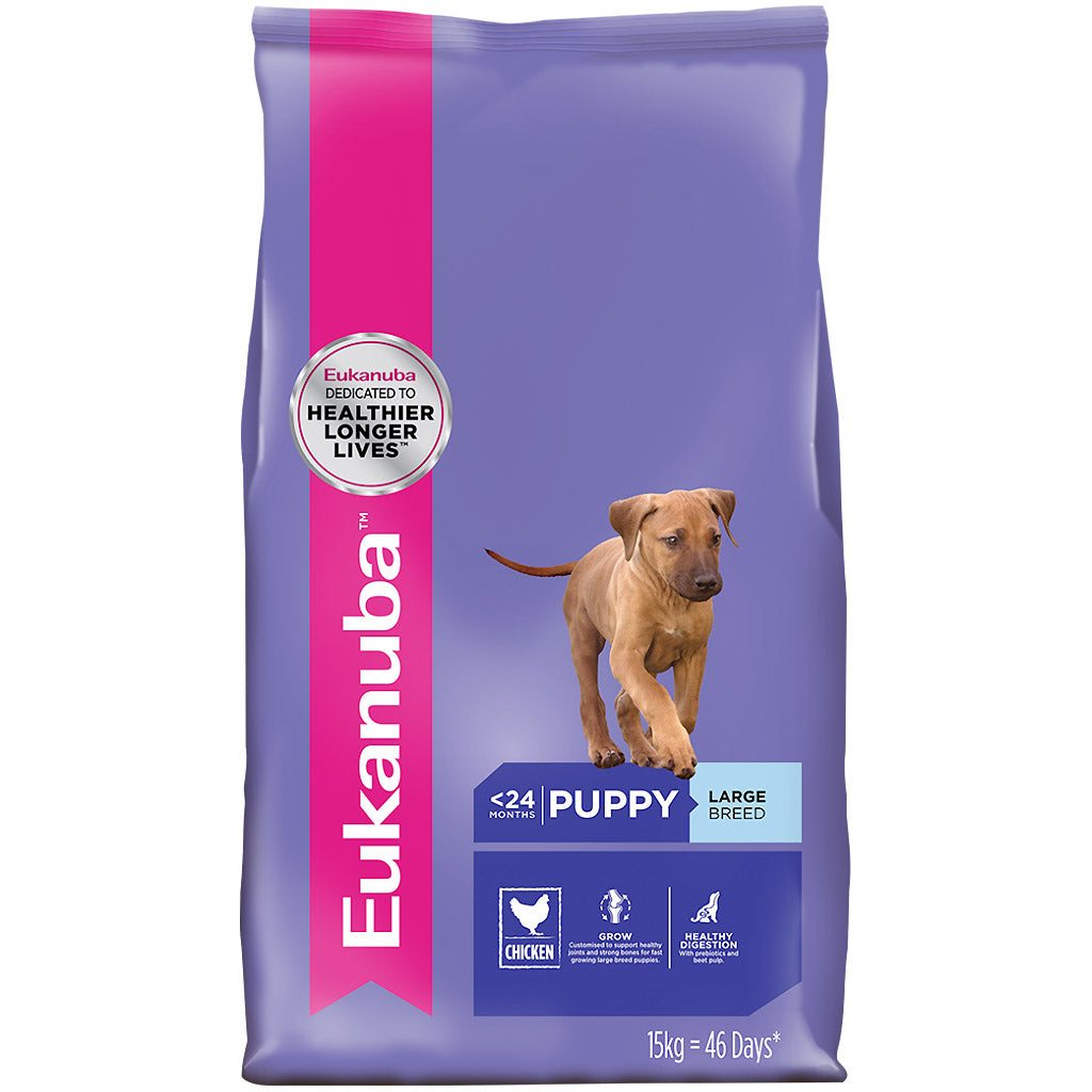25% OFF [NEW]: EUKANUBA® Puppy Large Breed Chicken Dry Dog Food (3 sizes)