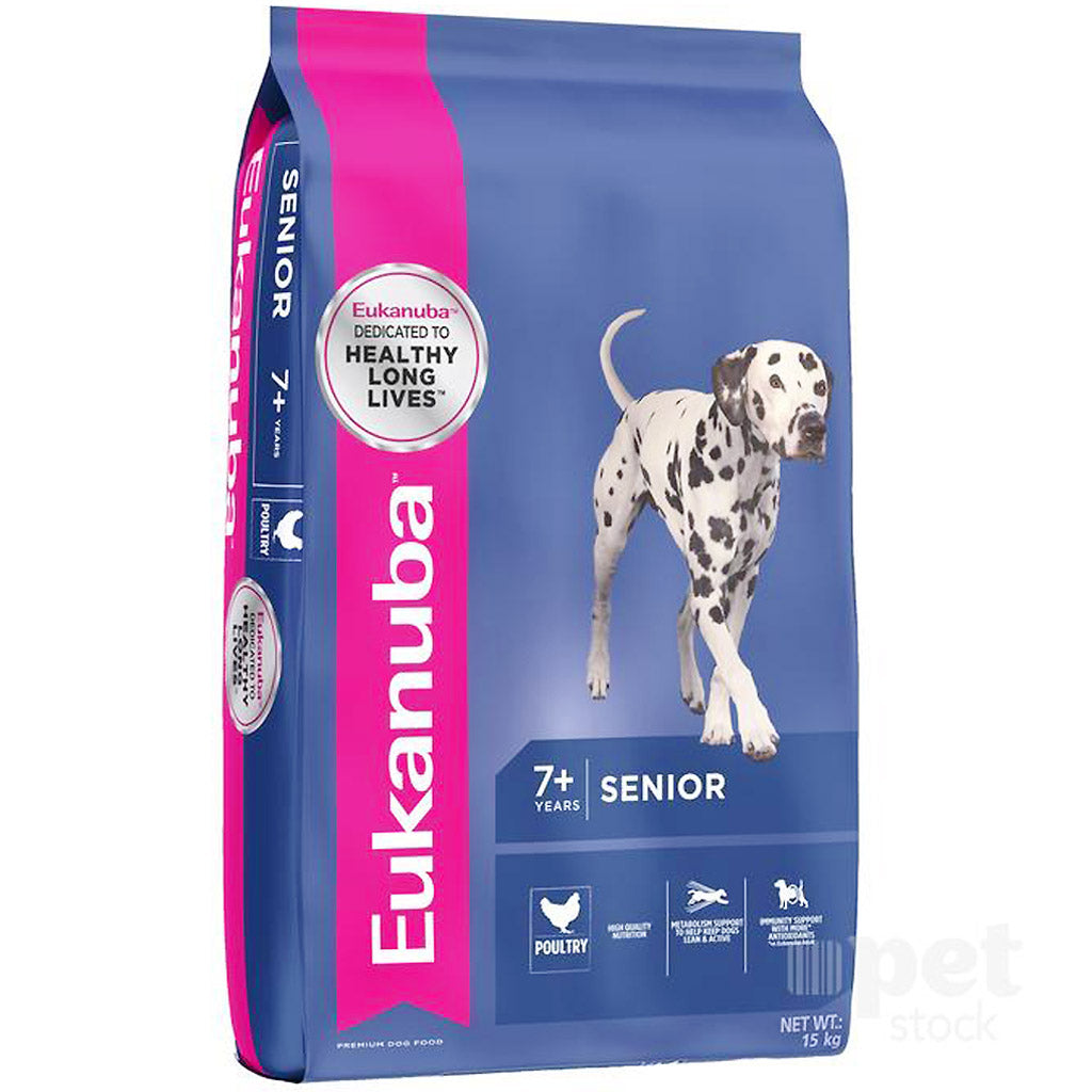 25% OFF + FREE TREATS: EUKANUBA® Senior Medium Breed Chicken Dry Dog Food (2 sizes)