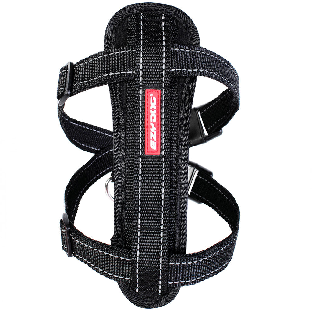 15% OFF: EzyDog® Chest Plate Custom Fit Harness - Black (7 sizes)