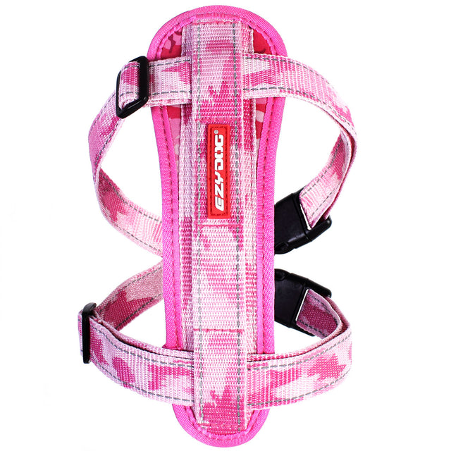 15% OFF: EzyDog® Chest Plate Custom Fit Harness - Pink Camo (7 sizes)