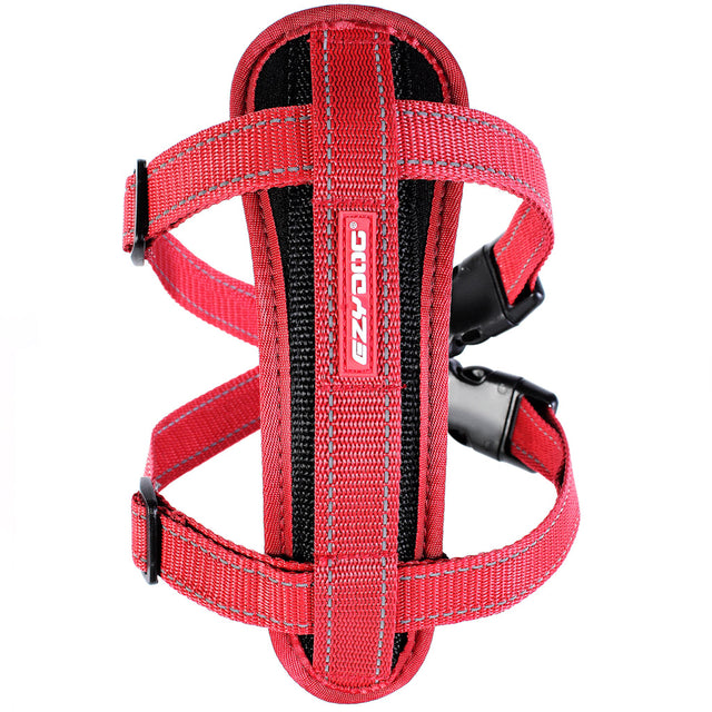 15% OFF: EzyDog® Chest Plate Custom Fit Harness - Red (7 sizes)