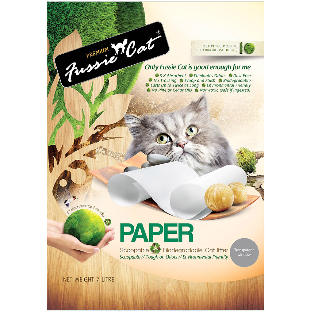 20% OFF: Fussie Cat® Natural Paper Cat Litter (7L)
