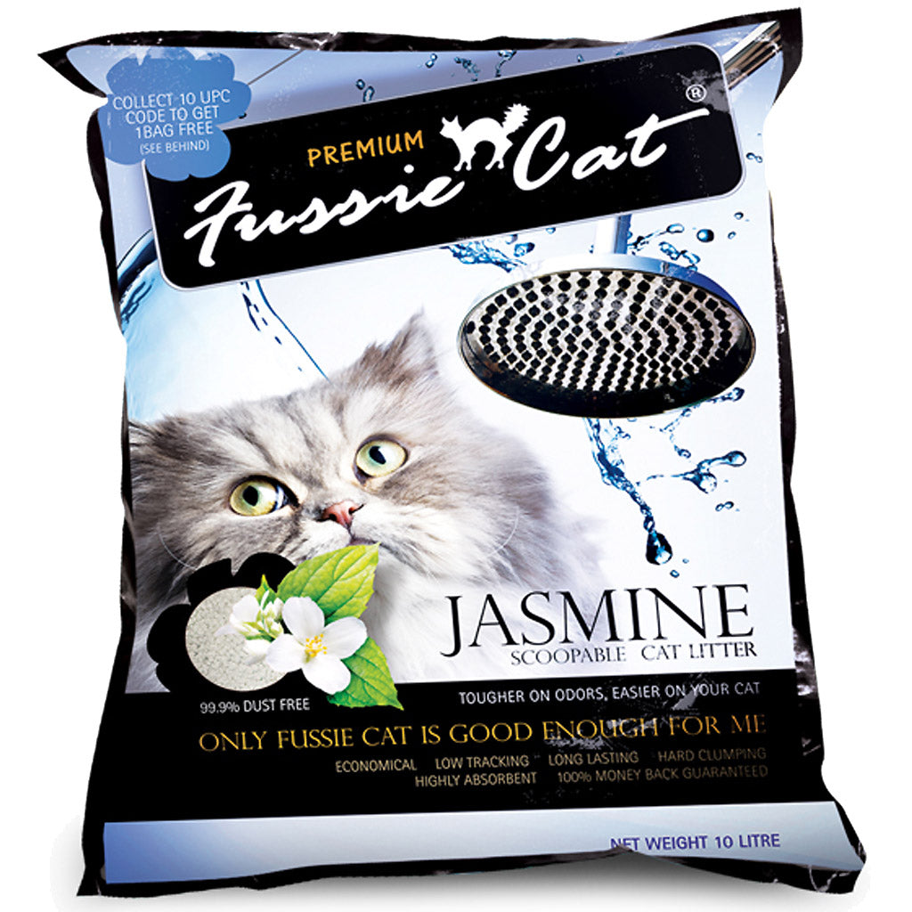 15% OFF: Fussie Cat® Scoopable Cat Litter - Jasmine (10L)