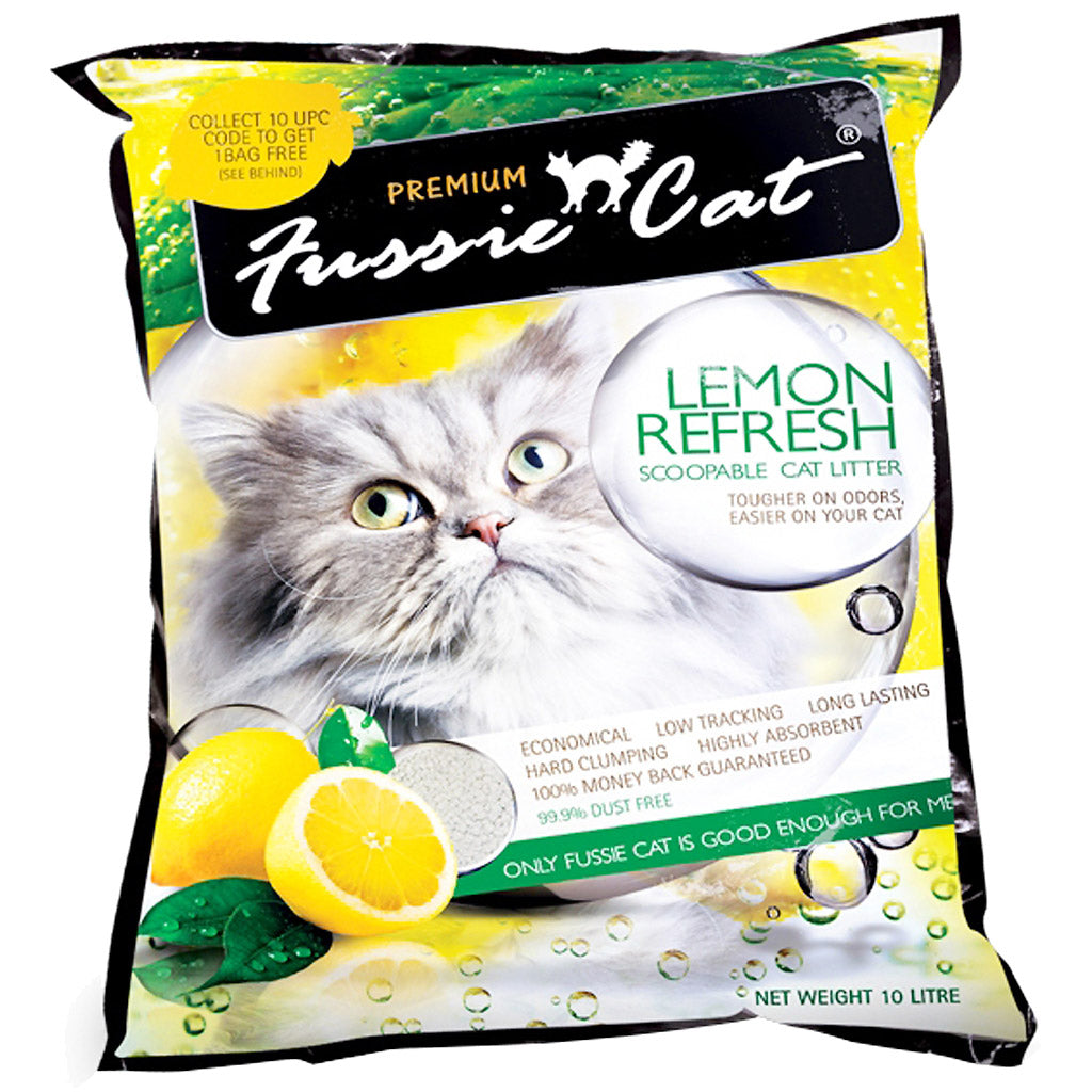 3 FOR $25 [SAVER]: Fussie Cat® Scoopable Cat Litter - Lemon (10L)
