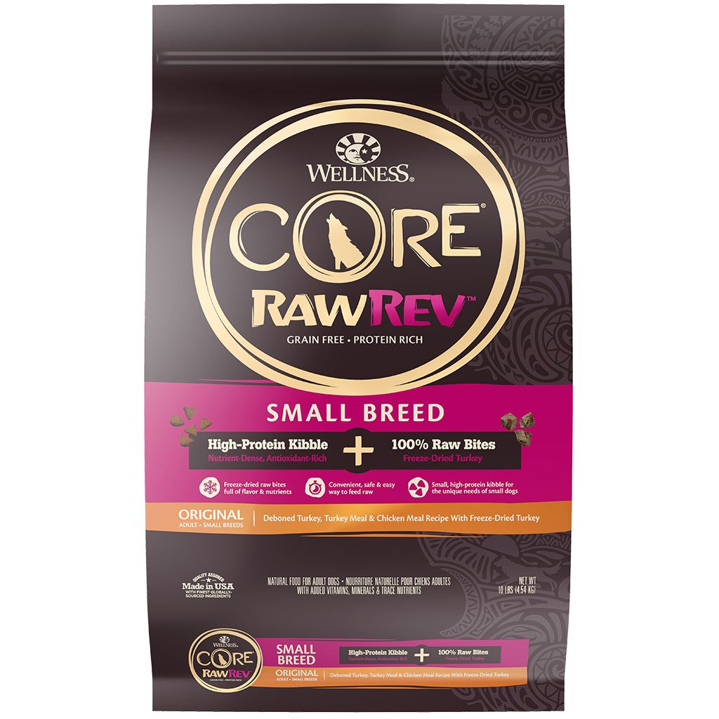 30% OFF + FREE TREATS [NY21] : Wellness® CORE RawRev Small Breed with Freeze-Dried Turkey Grain-Free Dry Dog Food (2 sizes)