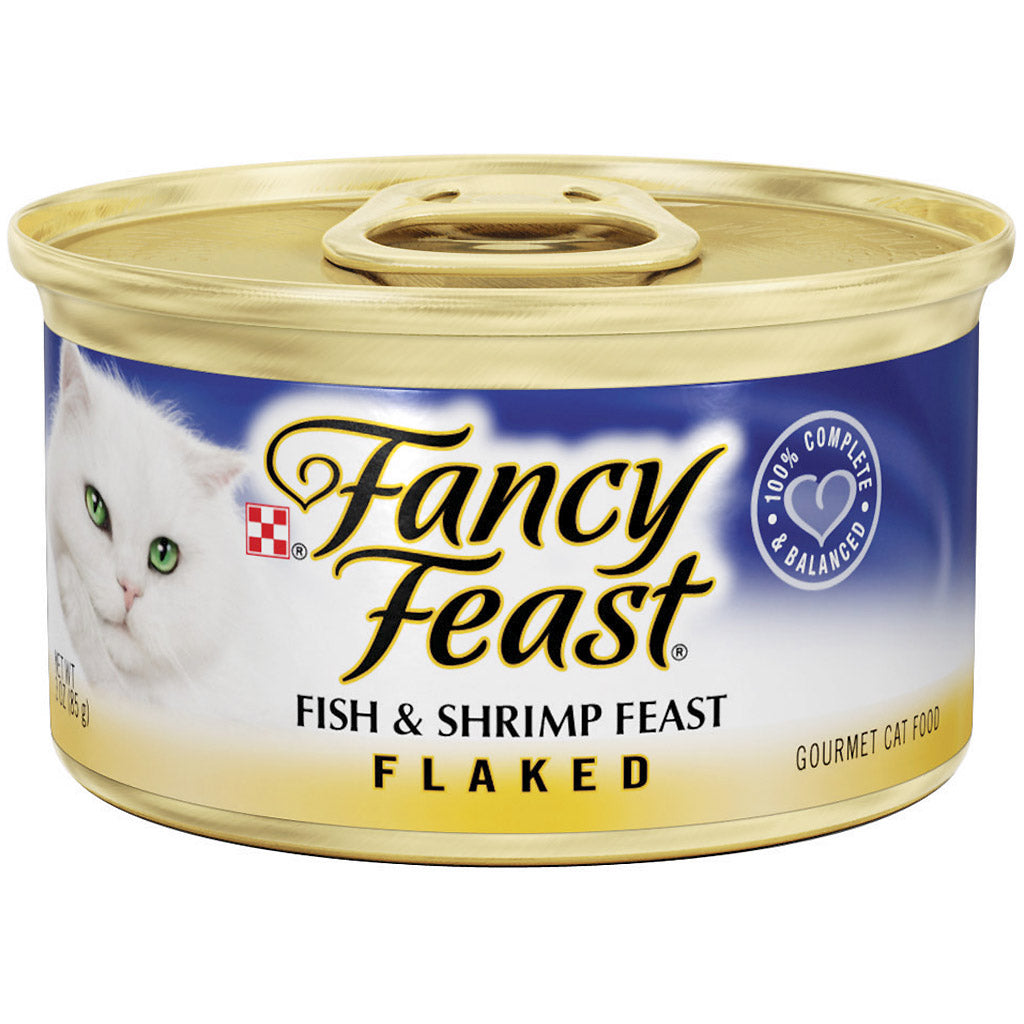 25% OFF: Fancy Feast® Flaked Fish & Shrimp Feast Canned Cat Food 85g (24pcs)