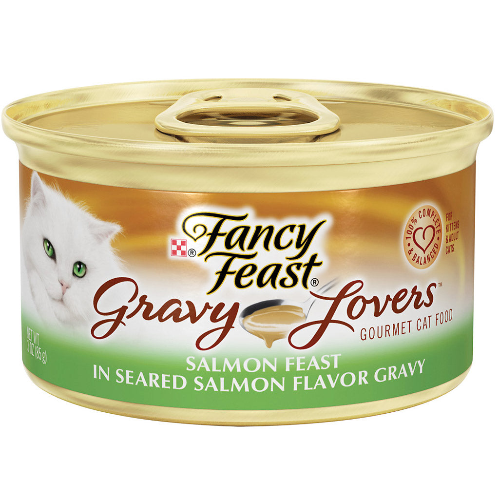 25% OFF: Fancy Feast® Gravy Lovers Salmon Feast in Seared Salmon Flavor Gravy Canned Cat Food 85g (24pcs)