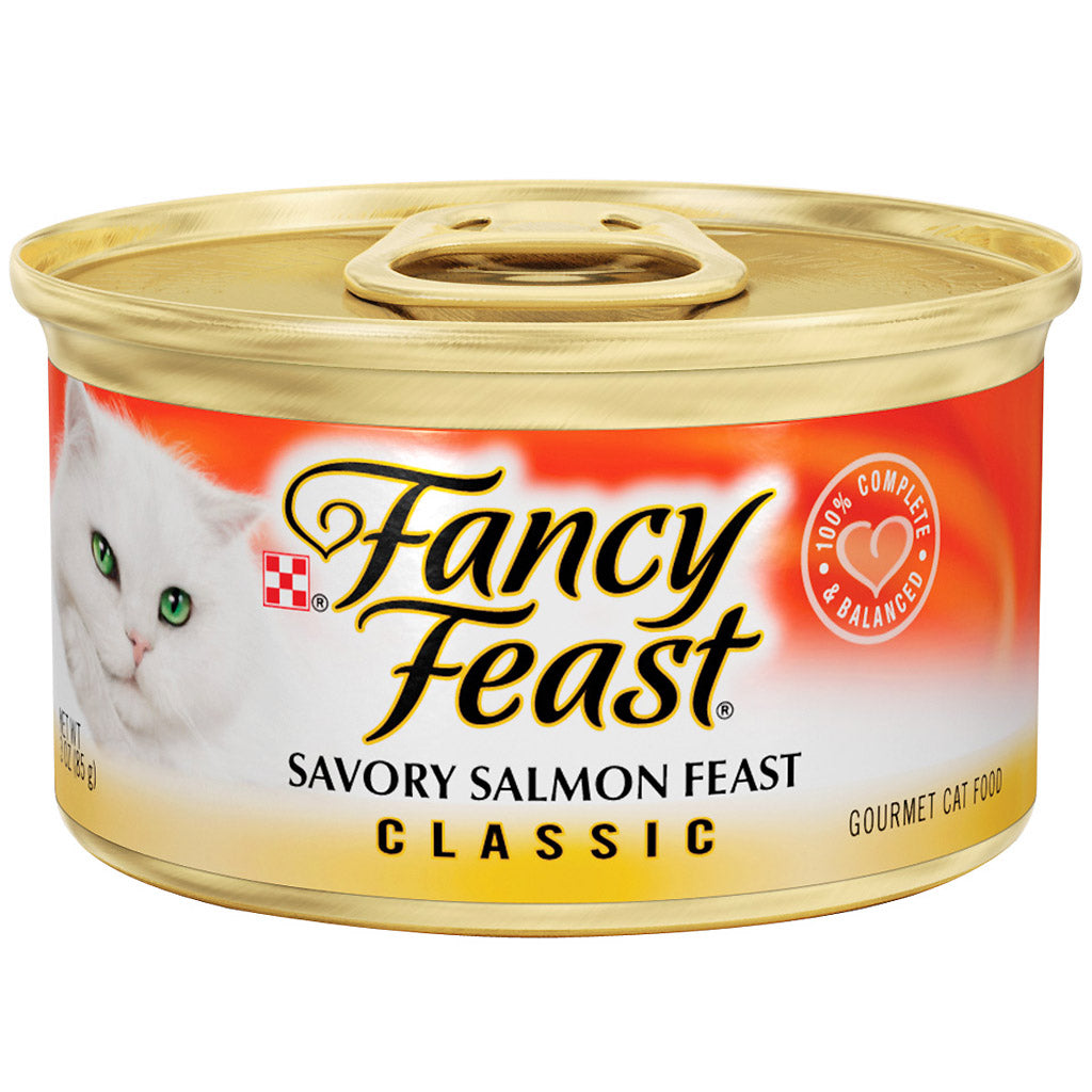 25% OFF: Fancy Feast® Classic Savory Salmon Feast Canned Cat Food 85g (24pcs)