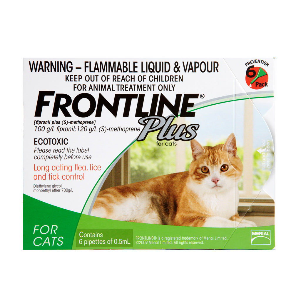 25% OFF: Frontline® Plus Tick & Flea for Cats (3/6 Doses)