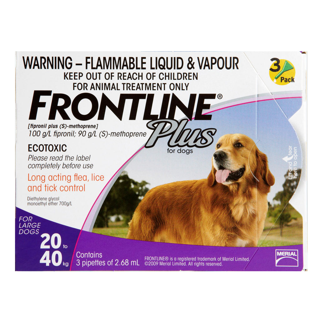 23% OFF: Frontline® Plus Tick & Flea for Large Dogs (20–40kg)