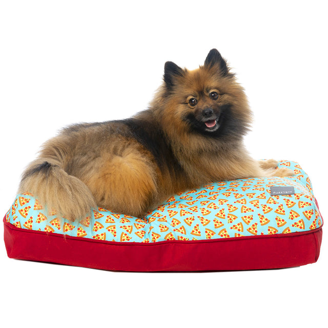 30% OFF + FREE TREATS: FuzzYard® Big Dreamer Pet Pillow - Pizza Lyf (3 sizes)