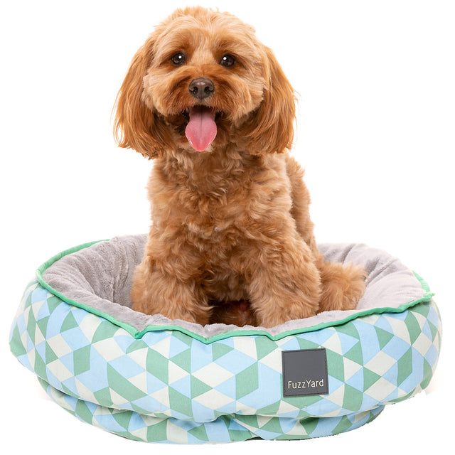 20% OFF + FREE TREATS [NEW]: FuzzYard® Reversible Dog Bed - Peridot (3 sizes)