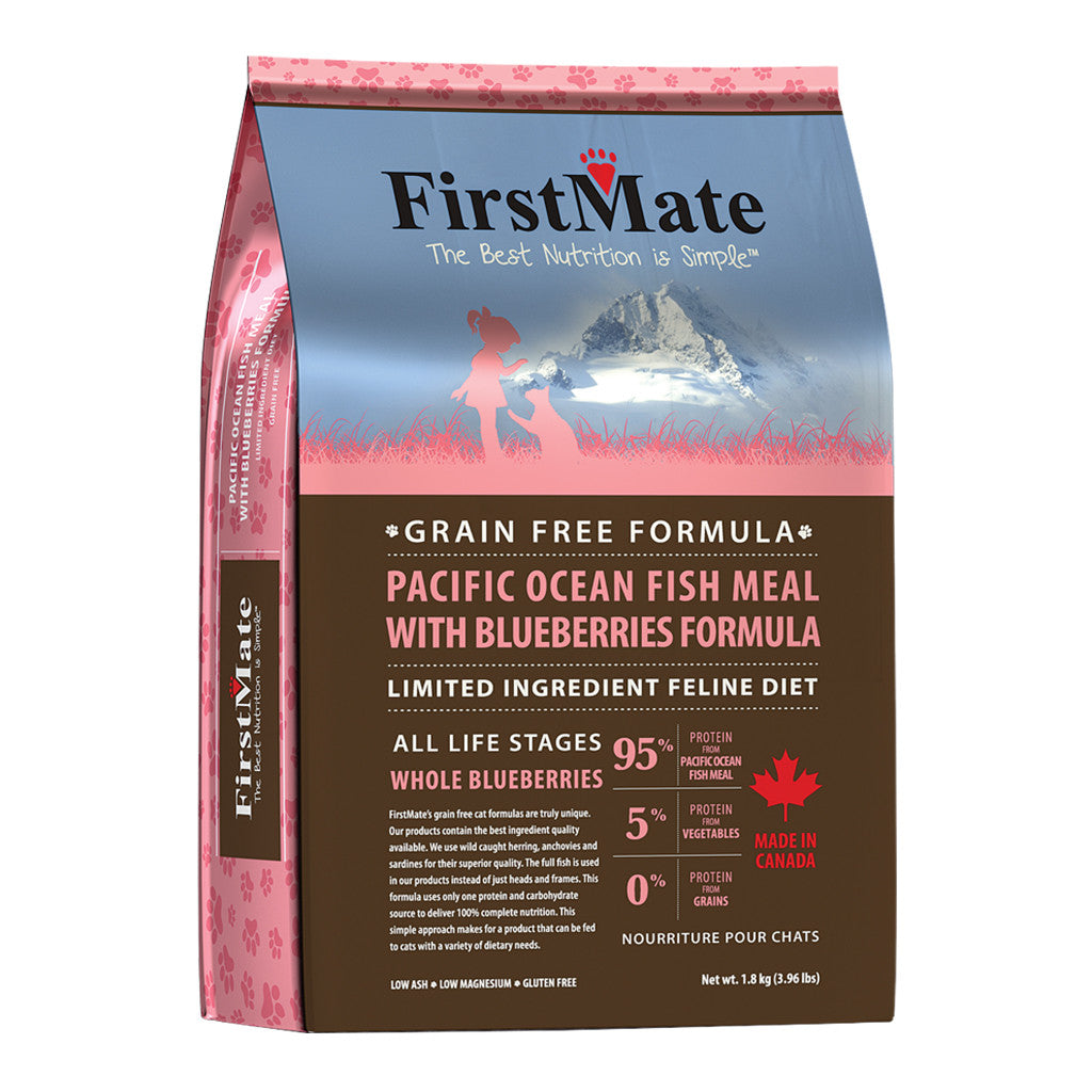 [SALE –20%] FirstMate® Grain-Free Pacific Ocean Fish Meal With Blueberries Dry Cat Food (2 sizes)