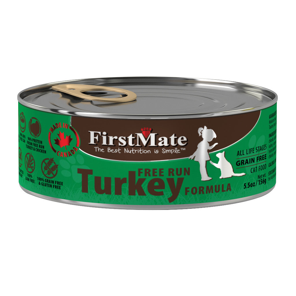 20% OFF: FirstMate® Free Run Turkey Grain & Gluten Free Canned Cat Food (12/24pcs)