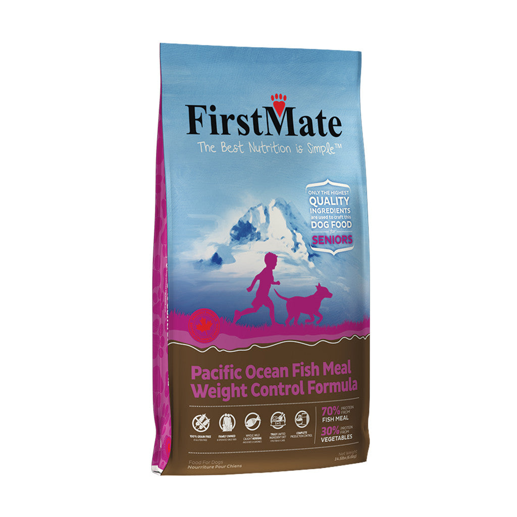 20% OFF: FirstMate® Pacific Ocean Fish Senior / Weight Control Grain-Free Dry Dog Food (2 sizes)