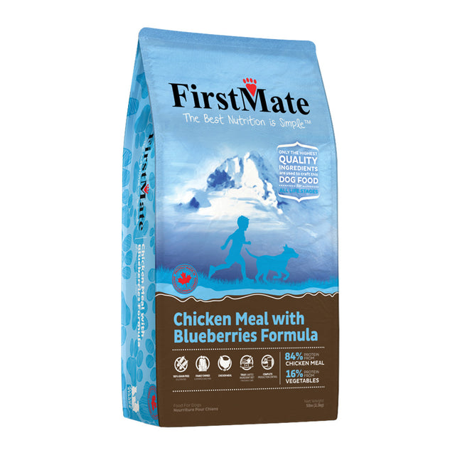 20% OFF: FirstMate® Chicken Meal with Blueberries Grain-Free Dry Dog Food (3 sizes)