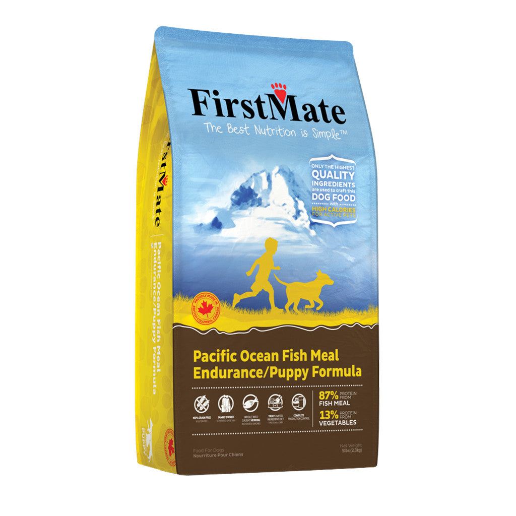 20% OFF: FirstMate® Pacific Ocean Fish Meal Endurance/Puppy Grain & Gluten Free Dry Dog Food (2 sizes)