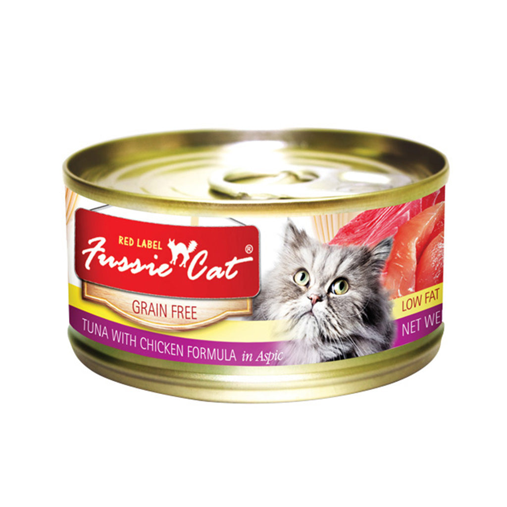 20% OFF: Fussie Cat® Red Label Tuna with Chicken Grain-Free Canned Cat Food (24pcs)