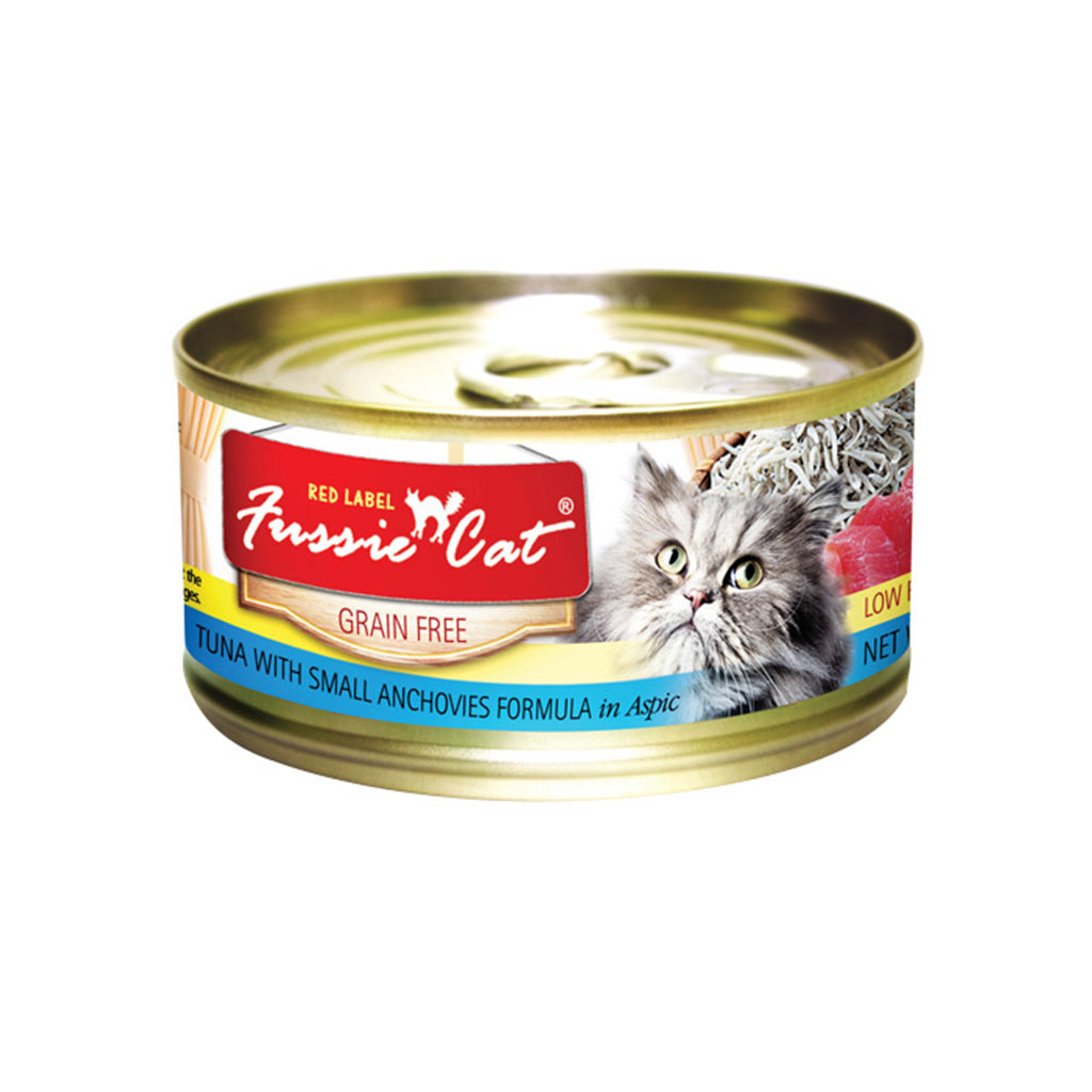 20% OFF: Fussie Cat® Red Label Tuna with Small Anchovies Grain-Free Canned Cat Food (24pcs)