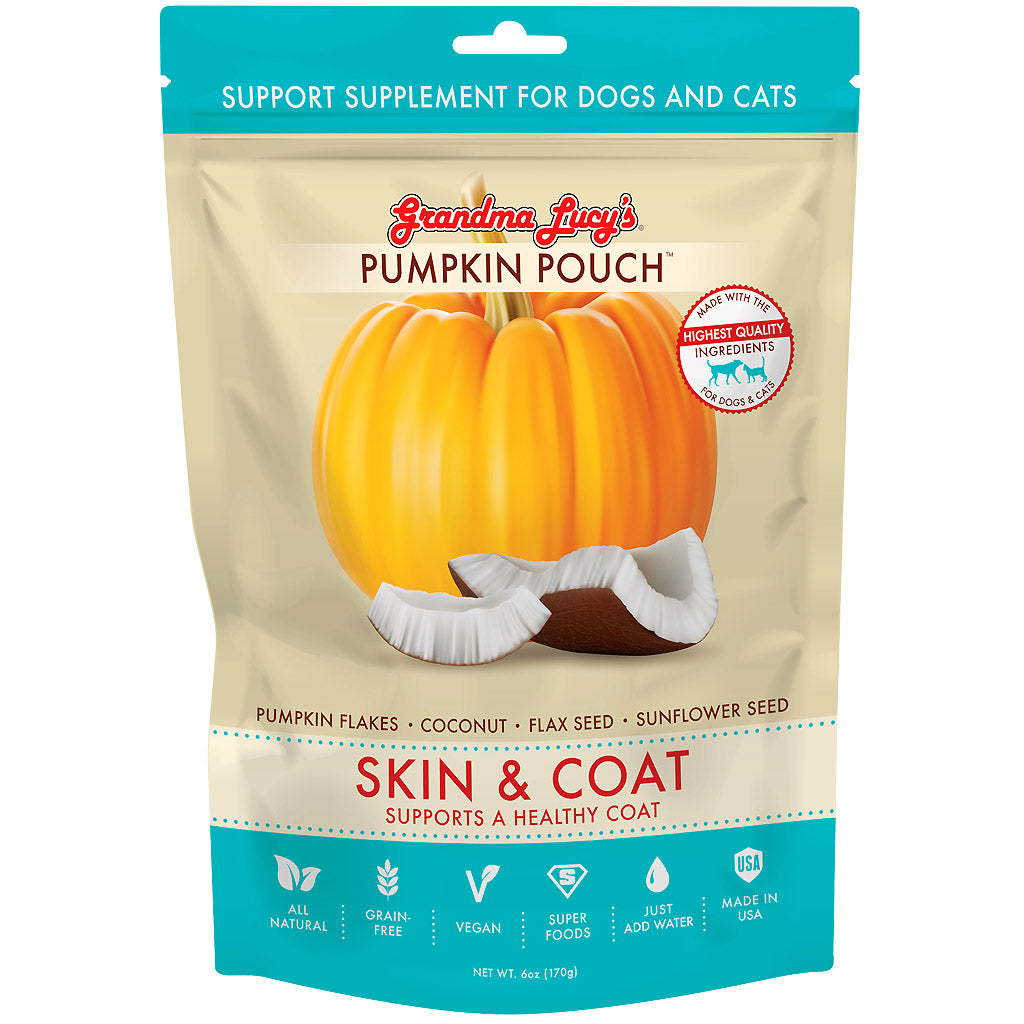 20% OFF [NEW]: Grandma Lucy's® Pumpkin Pouch Skin & Coat Supplement for Dogs & Cats (170g/6oz)