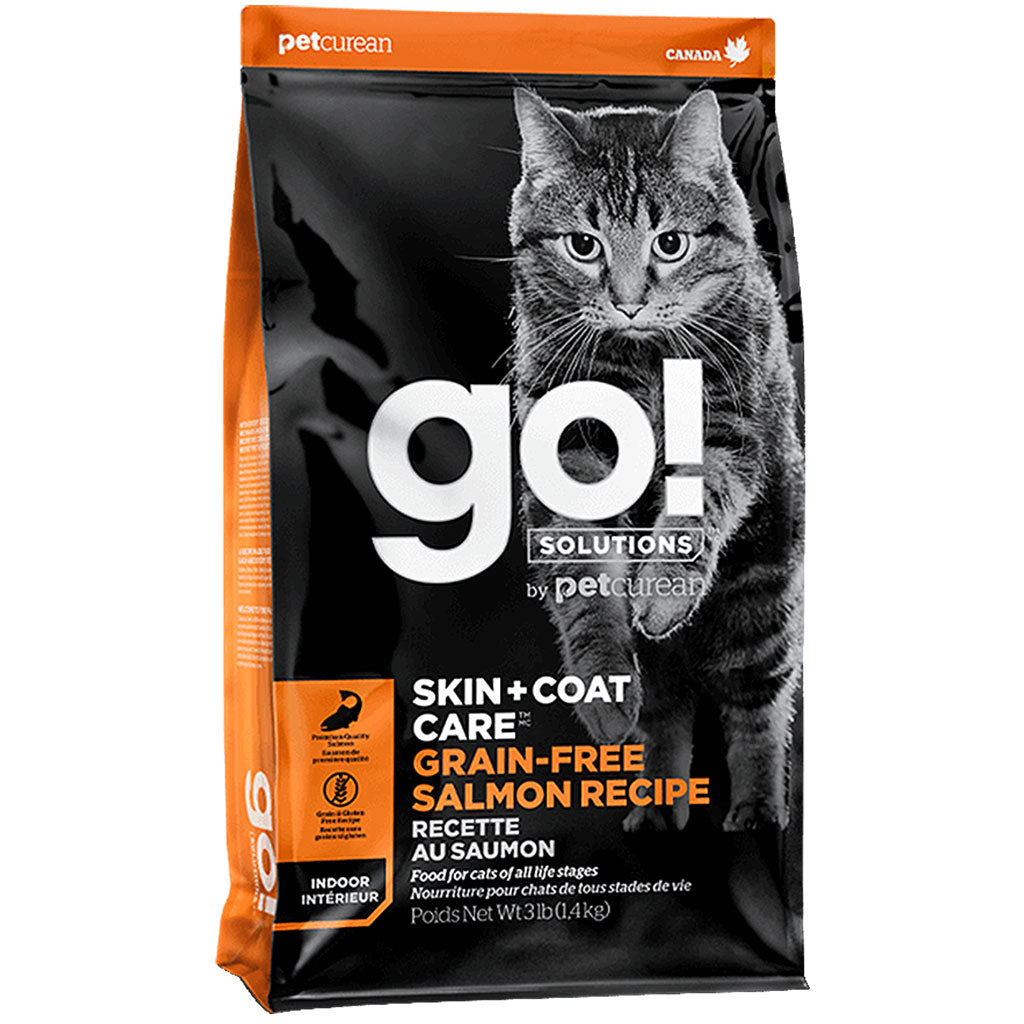 55% OFF [CLEAR]: Petcurean GO!® Skin+Coat Care Salmon Grain-Free Dry Cat Food (1.4kg)