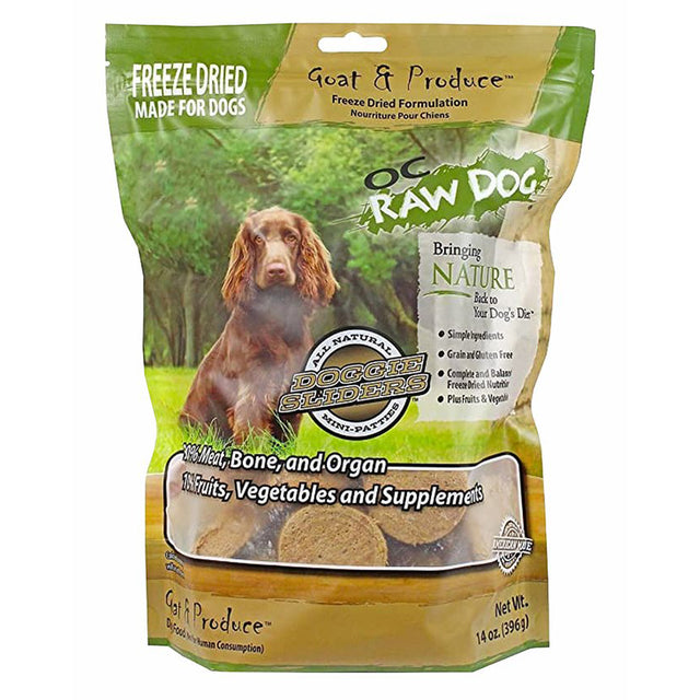$59.90 ONLY [PETSALE]: OC Raw Dog® Freeze-Dried Goat & Produce Sliders Grain-Free Dog Food (396g)