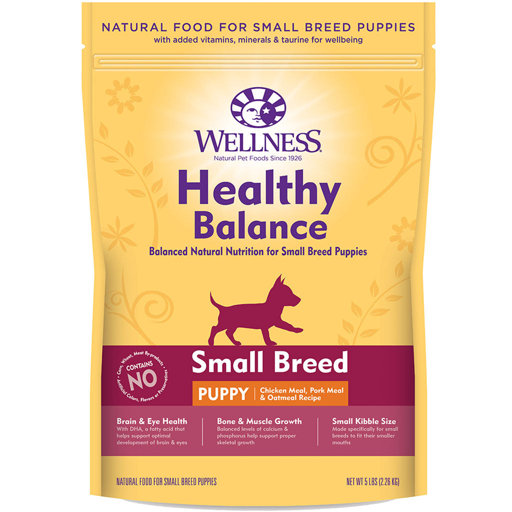 33% OFF: Wellness® Healthy Balance Small Breed Puppy Chicken Meal, Pork Meal & Oatmeal Dry Dog Food (2 sizes)